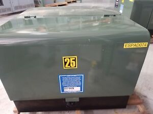 T r Electric Padmount Transformer 25 Kva Primary 12470grdy 7200 Sec 240 120 Volt