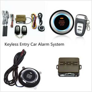 Vehicle Alarm System Keyless Entry Push Button Ignition Remote Engine Start New