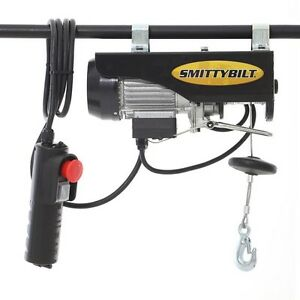 Smittybilt Hardtop Hoist With Electric Winch For 2007 2018 Jeep Wrangler Jk