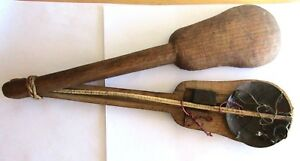 Antique Chinese Herb Doctor Hand Scale Complete With Weight Bone Arm Brass Tray
