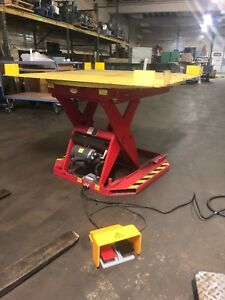 Southworth Electric Lift Table Pallet Loder Rotary 4000lbs Pph4 24 115v 1 Phase