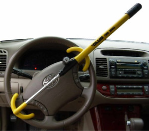 New The Club 3000 Twin Hooks Steering Wheel Lock For Cars Vans And Suvs