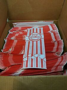 Carnival King Paper Popcorn Bags 2 Oz Red White at Least 1600 Bags Left