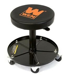 Rolling Mechanics Creeper Seat Garage Work Stool Chair Tool Box Storage 300 Lbs