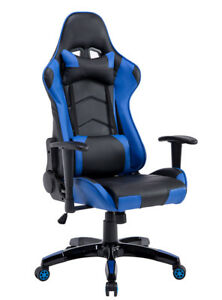 Pu Leather Gaming Computer Game Chair Ergonomic Racing Reclining High Back Us