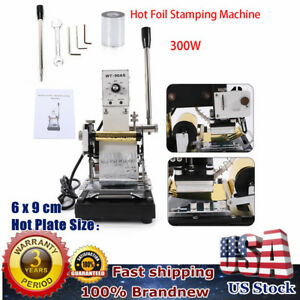Hot Foil Stamping Machine Stamper Bronzing Pvc Card Leather Embossing Gold Foil