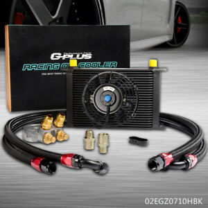 Gplus 25 Row An10 Thermostat Adaptor Engine Oil Cooler Kit 7 Electric Fan
