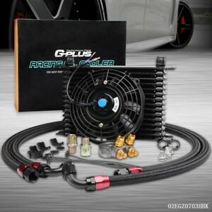 For Car Truck 15 Row An10 Thermostat Adaptor Engine Oil Cooler Kit 7 Fan