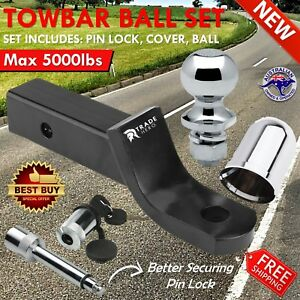 50mm Towbar Tongue Tow Bar Ball Mount Hitch Trailer 4wd Car Caravan Boat 2 N