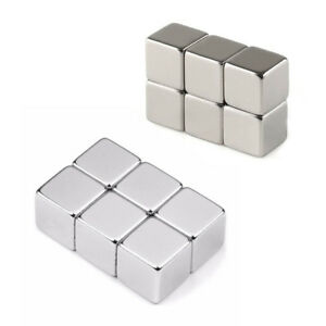 Wholesale Super Strong Cube Square Block Magnets Rare Earth Neodymium N50 Silver