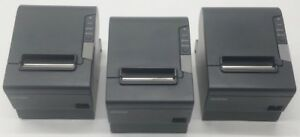 Lot Of 3 Epson Micros Tm t88v M244a Usb serial Pos Thermal Receipt Printer 2