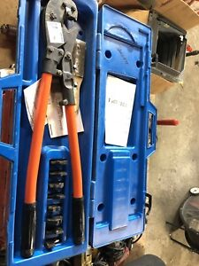 T b Thomas Betts Tbm8 Wire Cable Crimper With Dies And Case