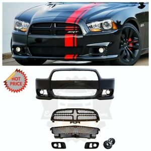 Srt8 Srt 8 Hellcat Style Front Bumper Kit W Fog Lights For 11 14 Dodge Charger