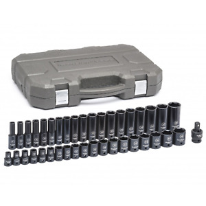 Gearwrench 84948n 1 2 Drive 6 Pt Metric Standard deep Impact Socket Set 39 Pc