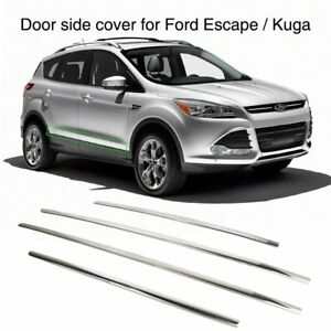 Door Side Cover Strip Trim Guard For Ford Escape Kuga 2013 2018 Stainless Steel