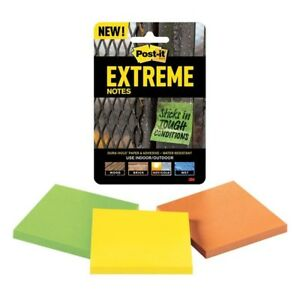 Post it Extreme Notes 3 X 3 3 Pads pack Lot Of 38 Packs Bonus Expo