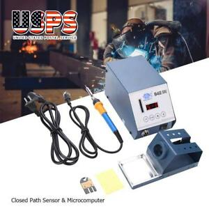 110v 942 Electric Soldering Station Iron Digital Display Desoldering Kit Us Plug