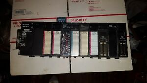 Ge Fanuc 90 30 10 Slot Expansion Base E157515 W Power Supply And 10 Cards
