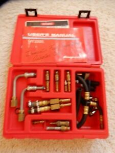 Snap On Mt3350 Domestic Fuel Injection Adaptor Set W extra Adapter Fittings