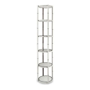 80 Round Portable Aluminum Spiral Tower Display Case With Top Light