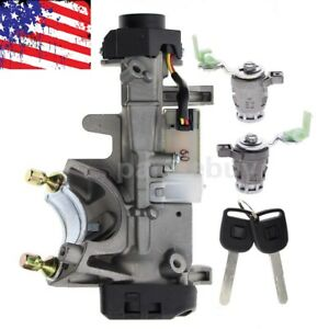 New Ignition Switch Cylinder Door Lock Keys Chip For 2002 06 Honda Crv Cr V