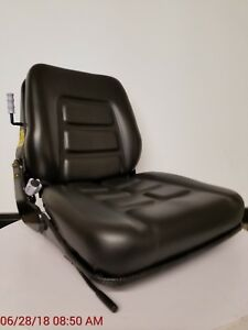 Forklift Seat With Low Profile Suspension Universal