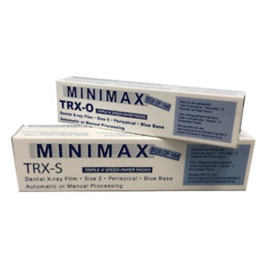 Minimax Paper Packet Intraroal D speed Size 2 Singles X ray Film Box Of 144
