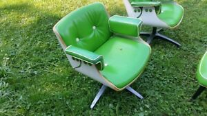 2 Vintage Mid Century Belvedere Lounge Chairs Salon Herman Miller Eames