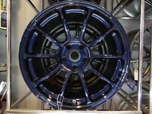 Volk Racing Ze40 Mag Blue 18x10 39 Wrx Sti New 5x114 3 Special Color