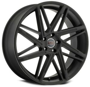 1 new 18 Milanni 9062 Blitz Wheel 18x8 5 5x120 38 Satin Black Rim