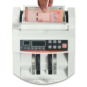 Money Cash Bill Counter Bank Counting Counterfeit Detector Uv Mg Usd Machine