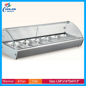8 Layer Glass Hot Food Warmer Display Case Rtr8 Counter Top Cooler Depot Usa