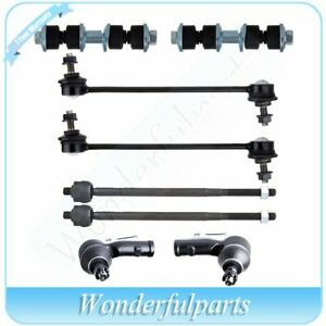 Fit Ford Focus 2000 2006 Front Tie Rod End Sway Stabilizer Bar Link Steering Kit