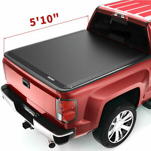 Oedro 5 8 Fit For 14 19 Chevy Silverado Gmc Sierra Soft Roll Up Tonneau Cover