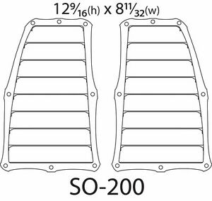 Universal Hood Vents Xj Zj Cj Tj Yj Lj Jk Offroad Off Road Hood Vents So 200
