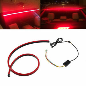 Car Inner Rear Window High Position Brake Light Red Led 40 Long Silicone Strip