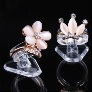 5pcs Transparent Ring Show Plastic Displays Jewelry Holder Stand Jewelry Supply