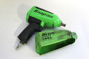 Snap On Mg725 1 2 Drive Pneumatic Green Impact Wrench Air Tool W Rubber Boot
