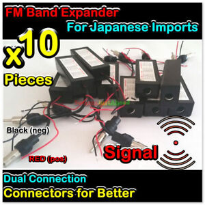 10x Fm Car Radio Band Expander Frequency Converter Shifter Japanese Ve Sjh1490b
