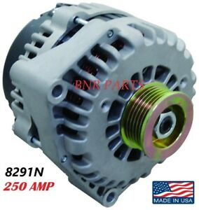 250 Amp 8291n Alternator Chevy Cadillac Gmc High Output New Made In Usa New Hd