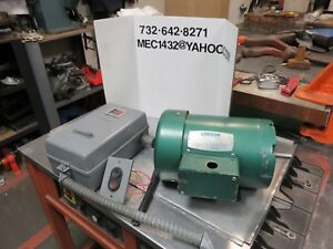 Powermatic Drill Press Leeson Motor 1140 950 Rpm 3 4 Hp Rare Clausing Drill