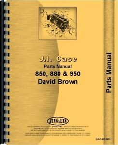 Case David Brown 850 880 950 Wheel Diesel Tractor Parts Manual Catalog