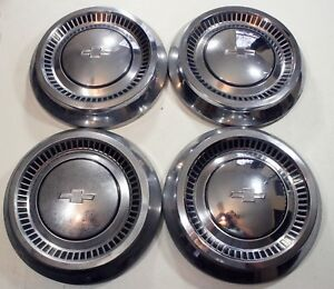 1964 Chevrolet Dog Dish Hubcaps 10 1 2 Set Of 4 Hub Caps 64