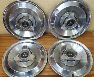 1964 1965 Dodge Spinner Wheel Covers Hubcaps Set Of 4