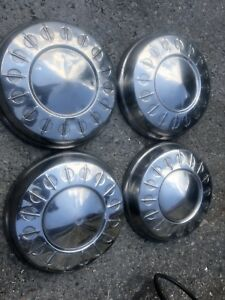 1962 Plymouth Dodge Police Car Hubcaps Poverty Caps dog Dishes