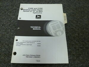 John Deere 310se 315se Backhoe Loader Hydraulics Service Repair Manual Tm1609