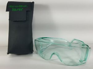 Bolle Laser Eye Safety Glasses Green With Belt Case Leather High Quality