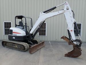 2015 Bobcat E50 Excavator Long Arm Hyd Thumb 2 Spd Aux Hydraulics X change