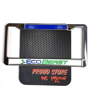 Ford Ecobeast Fast Domed Steel License Plate Frame Us Size Ford Racing Ecoboost