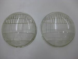 Vintage 1930 S Ford Twolite No 71122 Head Light Lens Pair Nos 7 3 4